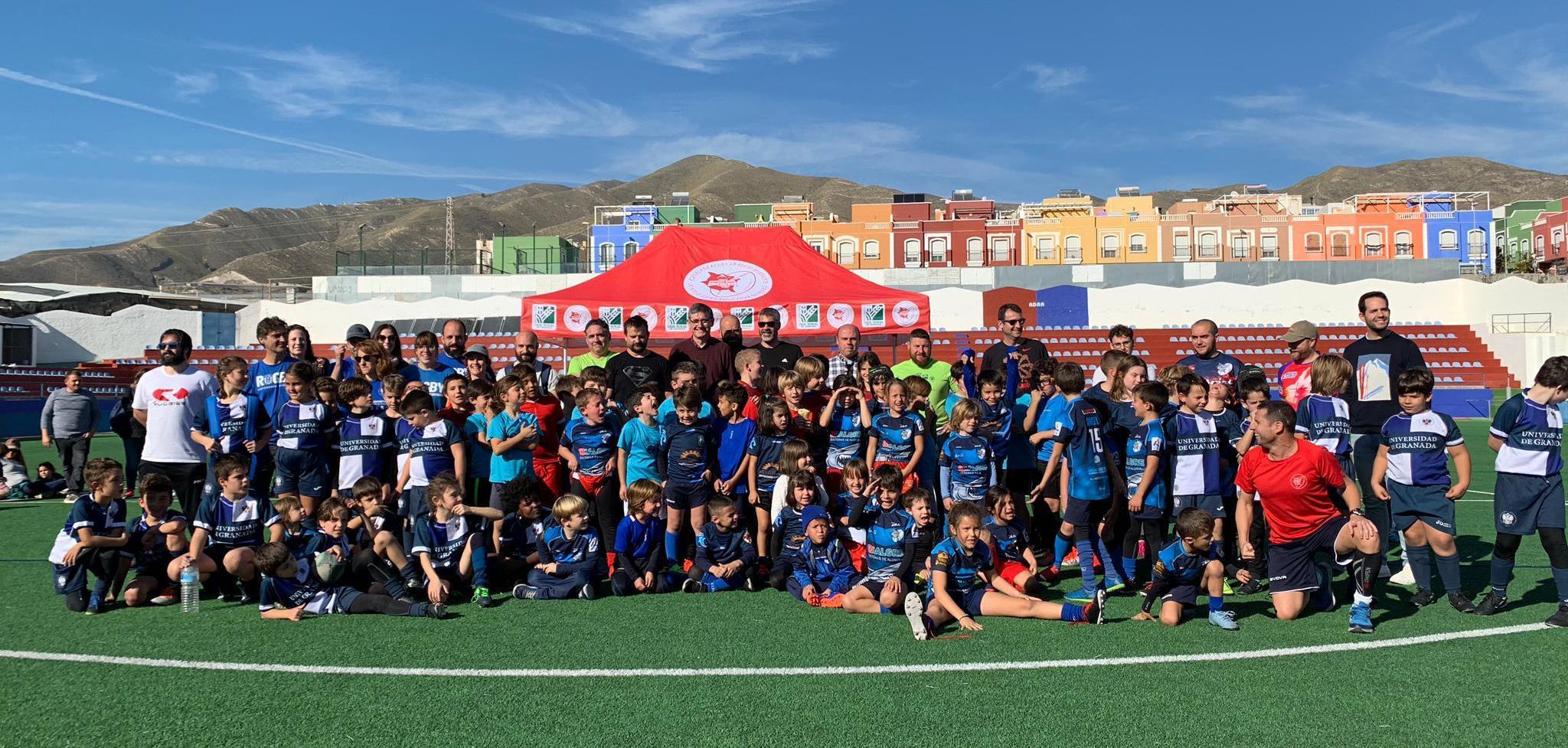 """Photo of El C.D. Marrajos Rugby celebra su I Trofeo Benéfico para que """"ningún niño se quede sin regalo en Navidad"""""""