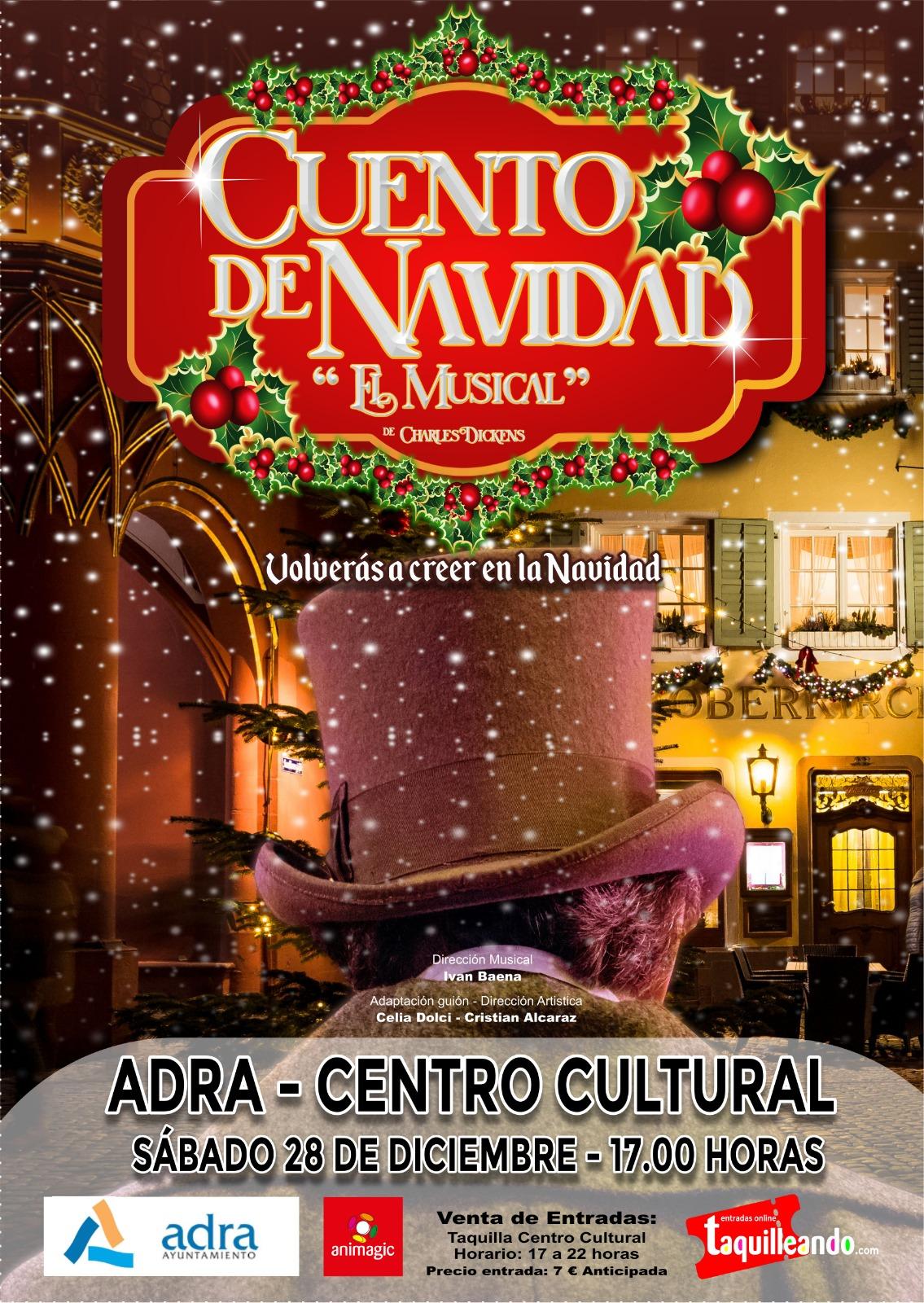 Photo of El famoso 'Cuento de Navidad. El Musical', de Charles Dickens llega a Adra este sábado