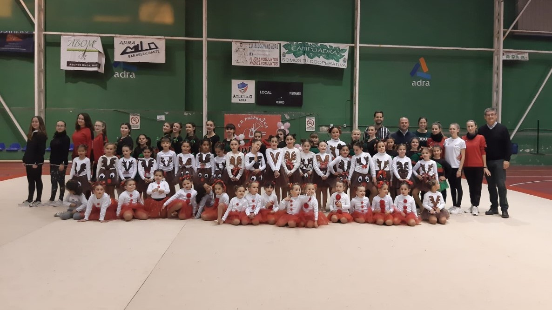 Photo of La gimnasia rítmica abderitana despide 2019 con un festival navideño