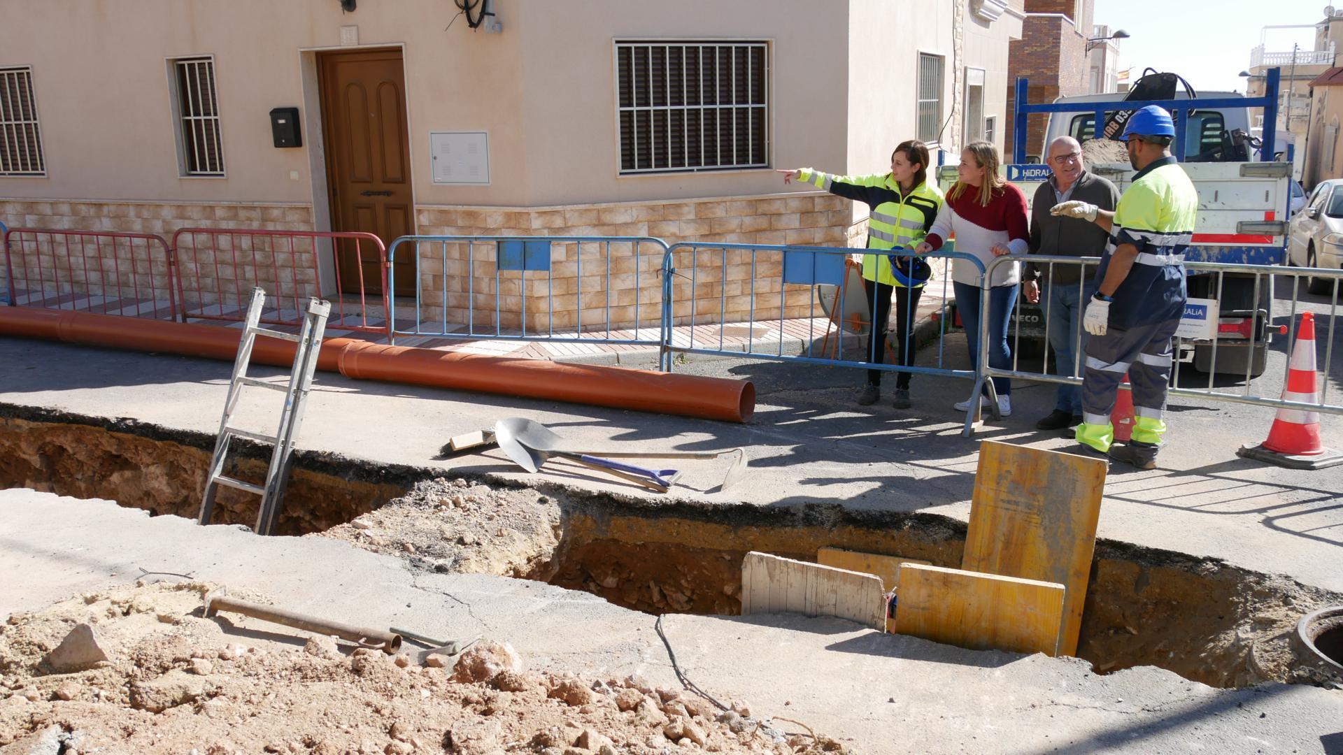 Photo of Obras de renovación en la red de saneamiento en calle Toboso de Puente del Río