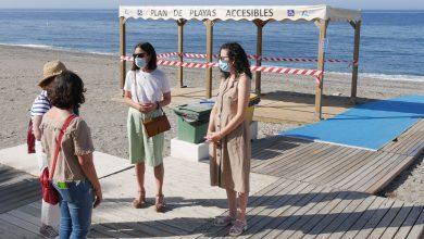 Photo of El Ayuntamiento de Adra y la FAAM comprueban la accesibilidad de las playas abderitanas