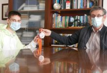 Photo of Cortés recibe al karateka abderitano Miguel Peña tras lograr el bronce en el Campeonato de España