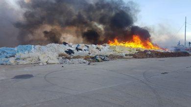 Photo of Incendio en un solar con residuos agrícolas en Puente del Río