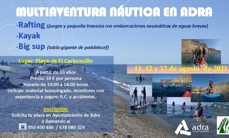 Photo of El Ayuntamiento de Adra organiza una jornada de 'Multiaventura Náutica' del 11 al 13 de agosto